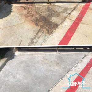 dumpster pad grease removal
