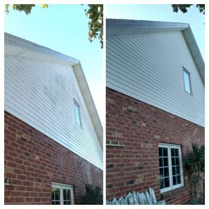 house washing multi surface before and after
